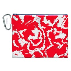 Migraine Red White Canvas Cosmetic Bag (XXL)