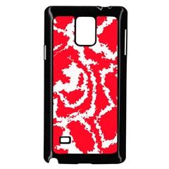 Migraine Red White Samsung Galaxy Note 4 Case (Black)