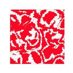 Migraine Red White Small Satin Scarf (Square)