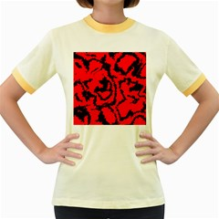 Migraine Red Women s Fitted Ringer T Shirts
