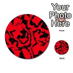 Migraine Red Multi Purpose Cards (round)