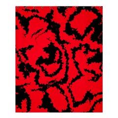Migraine Red Shower Curtain 60  x 72  (Medium)