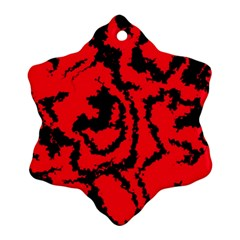 Migraine Red Snowflake Ornament (2-Side)