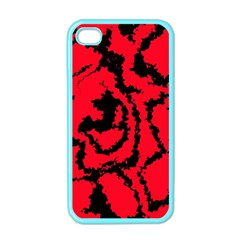 Migraine Red Apple iPhone 4 Case (Color)