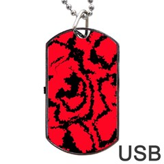 Migraine Red Dog Tag Usb Flash (two Sides)