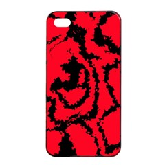 Migraine Red Apple iPhone 4/4s Seamless Case (Black)