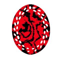 Migraine Red Ornament (Oval Filigree)