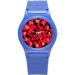 Migraine Red Round Plastic Sport Watch (S)