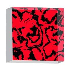 Migraine Red 5  x 5  Acrylic Photo Blocks