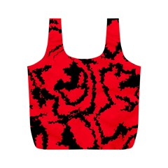 Migraine Red Full Print Recycle Bags (M)