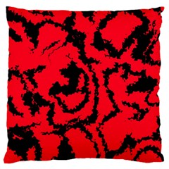 Migraine Red Large Flano Cushion Cases (One Side)
