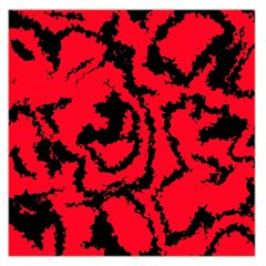 Migraine Red Large Satin Scarf (square)