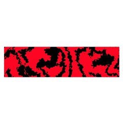 Migraine Red Satin Scarf (oblong)