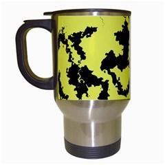 Migraine Yellow Travel Mugs (White)