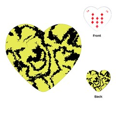 Migraine Yellow Playing Cards (heart)