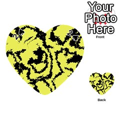 Migraine Yellow Playing Cards 54 (heart)