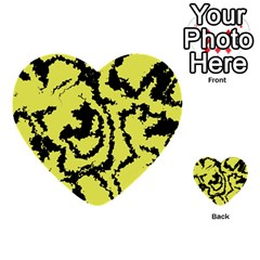 Migraine Yellow Multi-purpose Cards (Heart)