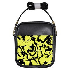 Migraine Yellow Girls Sling Bags