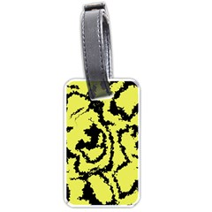 Migraine Yellow Luggage Tags (Two Sides)