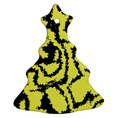 Migraine Yellow Christmas Tree Ornament (2 Sides)
