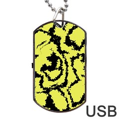 Migraine Yellow Dog Tag USB Flash (Two Sides)