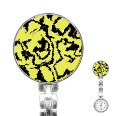 Migraine Yellow Stainless Steel Nurses Watches