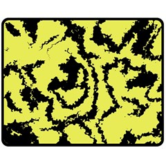 Migraine Yellow Double Sided Fleece Blanket (Medium)