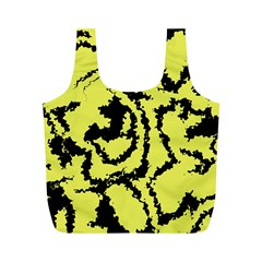 Migraine Yellow Full Print Recycle Bags (M)
