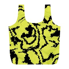 Migraine Yellow Full Print Recycle Bags (L)