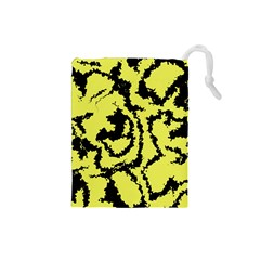 Migraine Yellow Drawstring Pouches (Small)
