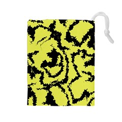Migraine Yellow Drawstring Pouches (Large)