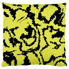 Migraine Yellow Large Flano Cushion Cases (One Side)