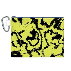 Migraine Yellow Canvas Cosmetic Bag (XL)