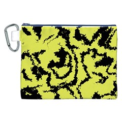 Migraine Yellow Canvas Cosmetic Bag (XXL)