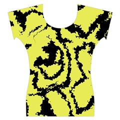 Migraine Yellow Women s Cap Sleeve Top
