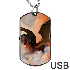 The Dark Unicorn Dog Tag USB Flash (One Side)