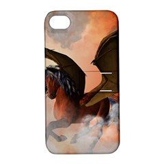 The Dark Unicorn Apple iPhone 4/4S Hardshell Case with Stand
