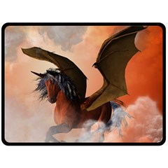 The Dark Unicorn Double Sided Fleece Blanket (Large)