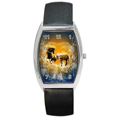 Wonderful Horses Barrel Metal Watches