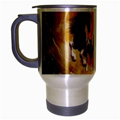 Wonderful Horses Travel Mug (Silver Gray)