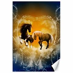 Wonderful Horses Canvas 20  x 30