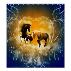 Wonderful Horses Shower Curtain 66  x 72  (Large)