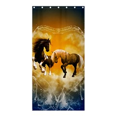Wonderful Horses Shower Curtain 36  x 72  (Stall)