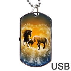 Wonderful Horses Dog Tag USB Flash (Two Sides)