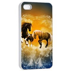 Wonderful Horses Apple iPhone 4/4s Seamless Case (White)