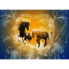 Wonderful Horses Birthday Cake 3d Greeting Card (7x5)
