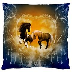 Wonderful Horses Large Cushion Cases (One Side)