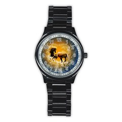 Wonderful Horses Stainless Steel Round Watches