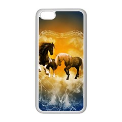 Wonderful Horses Apple iPhone 5C Seamless Case (White)