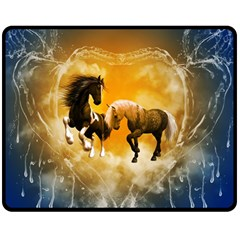 Wonderful Horses Double Sided Fleece Blanket (Medium)